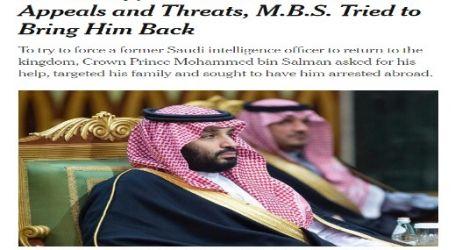 صحيفة نيويورك تايمز الأمريكية : بن سلمان يحاول إجبار ضابط استخبارات سعودي سابق على العودة للمملكة