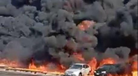 السيطرة على حريق طريق الإسماعيلية الصحراوي