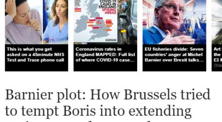 """صحيفة (إكسبريس) البريطانية : كيف حاولت بروكسل إغراء """"جونسون"""" تمديد بقاء بريطانيا بموجب قواعد الاتحاد الأوروبي"""