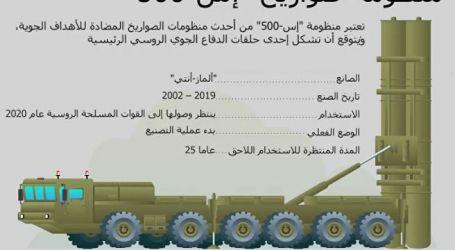 """منظومة """" إس 500 """" الروسية تستطيع اعتراض الصاروخ الأمريكي """"المخادع"""" (تقرير)"""