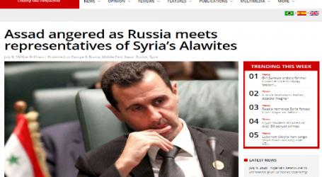 """موقع ( ميدل إيست مونيتور ) البريطاني : """" الأسد """" غاضب من لقاء روسيا مع ممثلي العلويين السوريين"""