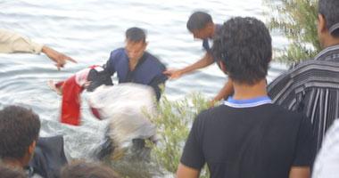 انتشال جثة مسن عثر عليه صياد بمياه النيل فى القناطر الخيرية