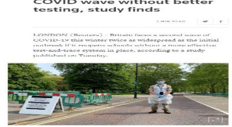 رويترز :بريطانيا مهددة بموجة ثانية أقوى من فيروس كورونا