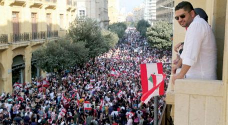 الأمن اللبنانى يطلق الغاز المسيل للدموع لتفريق المتظاهرين بمحيط البرلمان