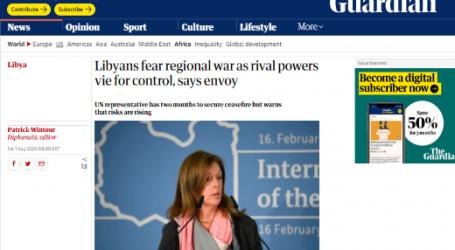 صحيفة ( الجارديان ) البريطانية: يخشى الليبيون من وقوع حرب إقليمية بسبب تنافس القوى الأجنبية للسيطرة على بلادهم