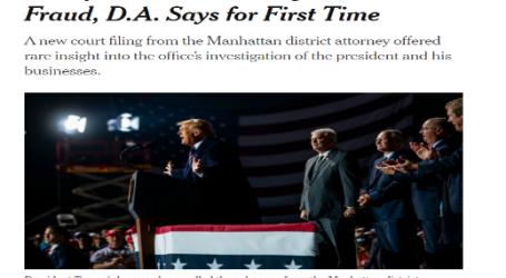 """نيويورك تايمز : """"ترامب"""" ربما يتم التحقيق معه بتهمة الاحتيال الضريبي"""