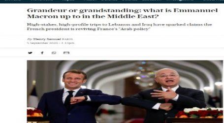 """صحيفة (التليجراف) البريطانية : رحلات """"ماكرون"""" المتكررة إلى الشرق الأوسط.. علاقة خاصة أم غرور؟"""