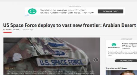أسوشيتد برس : قوات الفضاء الأمريكية تنتشر في الصحراء العربية