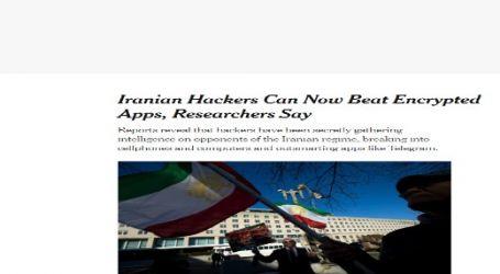 الحدث الان تنشر مقال مترجم لصحيفة (نيويورك تايمز) الأمريكية بعنوان ( يستطيع القراصنة الإيرانيون الآن اختراق التطبيقات المشفرة )