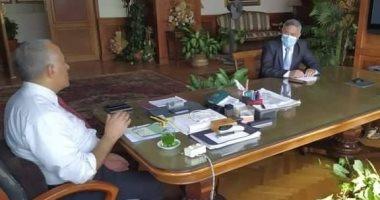 وزير الرى يبحث الإجراءات والاستعدادات الحالية لمواجهة السيول والفيضان