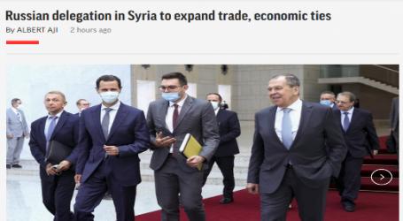 وكالة ( أسوشيتد برس ) الأمريكية:وفد روسي في سوريا لتوسيع العلاقات التجارية والاقتصادية