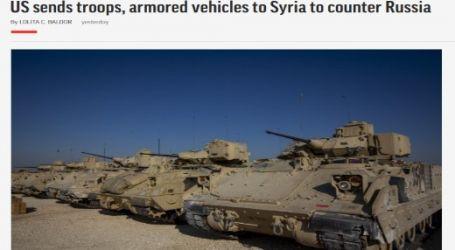 الحدث الان تنشر مقال مترجم لموقع ( أسوشيتد برس ) بعنوان ( الولايات المتحدة ترسل قوات ومدرعات لسوريا لمواجهة روسيا )