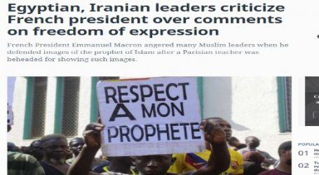 مقال مترجم لصحيفة ( المونيتور ) الأمريكية بعنوان : زعماء مصر وإيران ينتقدون الرئيس الفرنسي بسبب تعليقاته على حرية التعبير