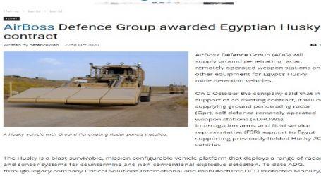 مقال مترجم لموقع (ديفينس نيوز) الأمريكي المتخصص في الشئون العسكرية : مجموعة (AirBoss Defense) تفوز بعقد متعلق بمركبات (Husky) المصرية