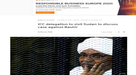 """وكالة ( رويترز ) البريطانية : وفد من المحكمة الجنائية الدولية يزور السودان لبحث قضية """"البشير"""""""