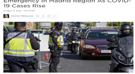 """"""" الحدث الآن """" يقدم .. مقال مترجم من موقع (إن بي آر): الحكومة الإسبانية تفرض حالة الطوارئ بإقليم مدريد بعد ارتفاع نسبة الإصابات بفيروس كورونا"""