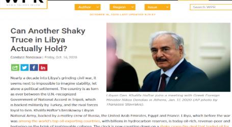 موقع (وورلد بوليتيكس ريفيو) الأمريكي:هل يمكن أن تصمد هدنة أخرى هشة في ليبيا؟