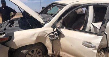 إصابة 3 أشخاص فى حادث سيارة ملاكى بالطريق الزراعى أمام مدينة طوخ