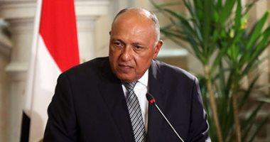 وزير الخارجية يؤكد ضرورة التصدى الحاسم للتنظيمات الإرهابية فى سوريا