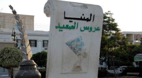 غلق الطريق المؤدي لقرى شرق النيل من أجل إنشاء بورتو المنيا