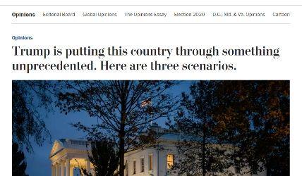 """واشنطن بوست : """"ترامب"""" يضع الولايات المتحدة أمام ثلاثة سيناريوهات"""