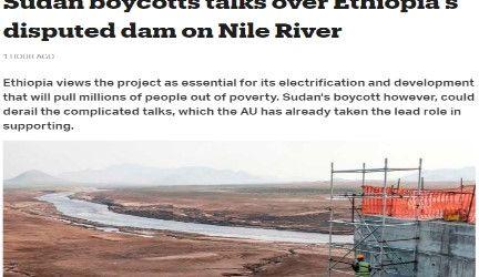 مقال مترجم لموقع (تي آر تي) التركي – الناطق بالإنجليزية – : السودان يقاطع المحادثات بشأن سد النهضة الإثيوبي