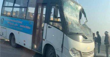 إصابة 8 تلاميذ وسائق ومشرفة في حادث أتوبيس مدرسة خاصة بالرماية