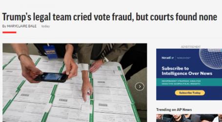 أسوشيتد برس : دعوات فريق ترامب القانوني حول تزوير الانتخابات لم تجد دليلاً أمام المحكمة