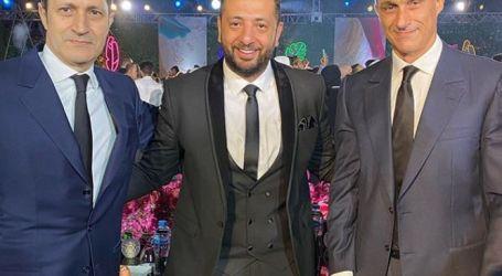 علاء وجمال مبارك يحضران حفل زفاف هنادي مهنا وأحمد خالد صالح (صور وفيديو)