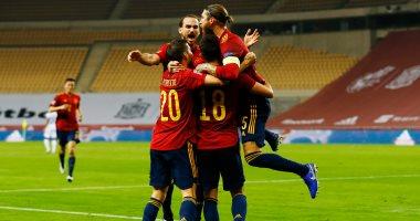 إسبانيا تقسوا علي ألمانيا بثلاثية فى شوط أول مثير بدوري الأمم الأوروبية
