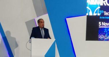 """وزير الإنتاج الحربي يتفقد جناح الوزارة بمعرض """"Cairo ICT 2020 """" وعدد من أجنحة الشركات المشاركة"""
