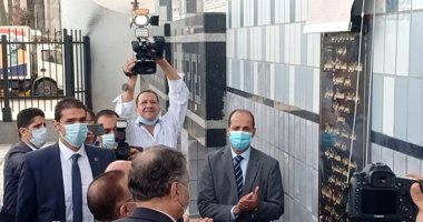 وزير العدل يشهد أول جلسة قضائية عن بعد بالإسكندرية.. صور