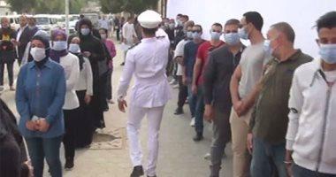 طوابير الناخبين أمام لجنة هدى شعراوى في منطقة السلام