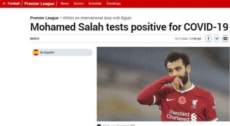 إصابة محمد صلاح بفيروس كورونا تتصدر صحف العالم بعد بيان اتحاد الكرة