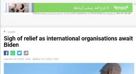 الحدث الان .. مقال مترجم لموقع (فرنسا 24)  بعنوان ( المنظمات الدولية تتنفس الصعداء مع فوز بايدن بالرئاسة )