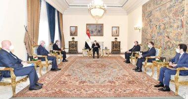 الرئيس السيسى يستقبل وزيري خارجيتي الأردن وفلسطين