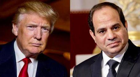 اتصال هاتفي بين الرئيس السيسي والرئيس ترامب