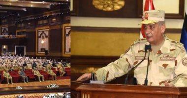جانب من لقاء وزير الدفاع بالجيش الثانى