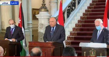 أبو الغيط ووزراء خارجية مصر والأردن وفلسطين يبحثون سبل كسر جمود عملية السلام
