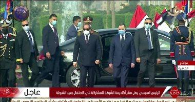 الرئيس السيسى يصل أكاديمية الشرطة لحضور احتفال وزارة الداخلية بعيد الشرطة