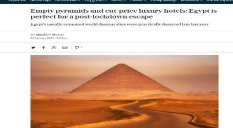 صحيفة (التليجراف) البريطانية :  منطقة الأهرامات والفنادق الفاخرة بأسعار منخفضة تجعل من مصر أفضل مكان للهروب من الإغلاق