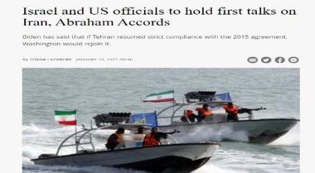 جيروزاليم بوست : مسئولون إسرائيليون وأمريكيون يعقدون أول محادثات حول إيران واتفاقيات إبراهيم