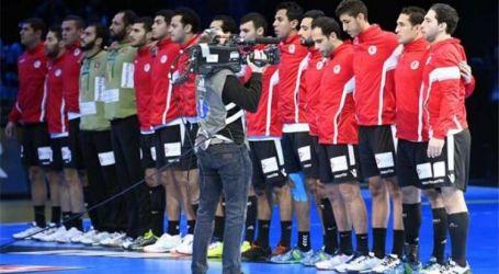 منتخب مصر لليد يتقدم على تشيلى 18 / 11 فى الشوط الأول بافتتاحية المونديال