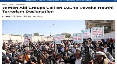 يو اس نيوز :منظمات إغاثة تعمل باليمن تطالب أمريكا بإلغاء تصنيف جماعة الحوثي منظمة إرهابية