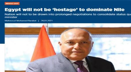 وكالة (الأناضول) التركية -النسخة الإنجليزية : مصر لن تكون رهينة لمن يريدون فرض السيطرة على النيل