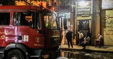مدير أمن الجيزة ينتقل لموقع حريق هائل لمخزن أحذية بفيصل