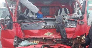 مصرع 3 أشخاص وإصابة 7 آخرين فى حادث تصادم بسبب الشبورة بالمنوفية