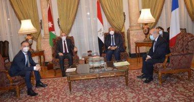 انطلاق اجتماع رباعى لوزراء خارجية مصر والأردن وفرنسا وألمانيا بالقاهرة لتحريك جهود السلام