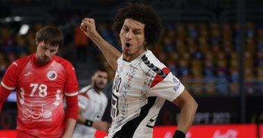 علي زين رجل مباراة مصر والدنمارك فى ربع نهائى بطولة العالم