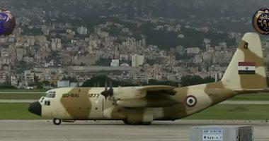 الصور الأولى لوصول 3 طائرات مصرية محملة بالمساعدات إلى لبنان
